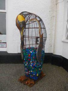 Penguin Sculpture Rydal Penrhos